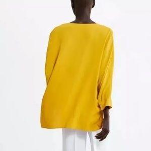 Zara Flowy Mustard Yellow Blouse